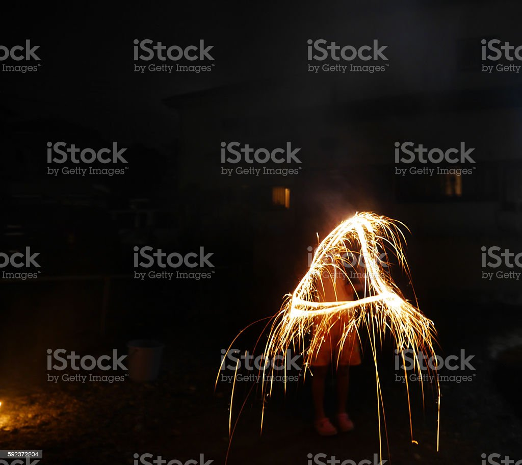 Trajectory of the triangle that occurred in the summer stock photo