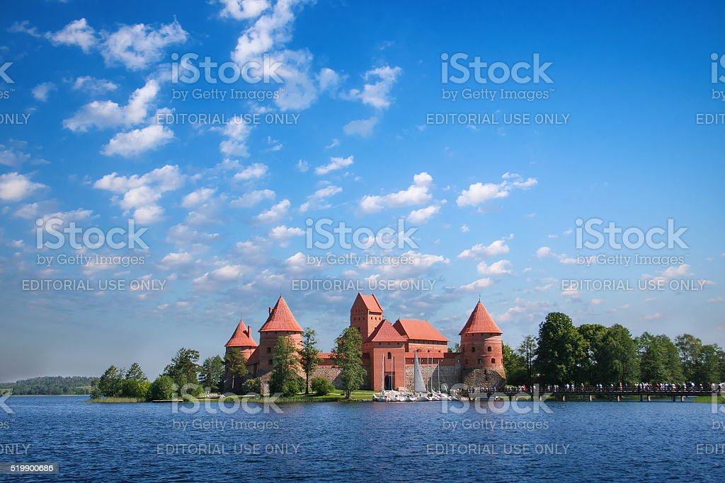 Trakai Castle 2 stock photo