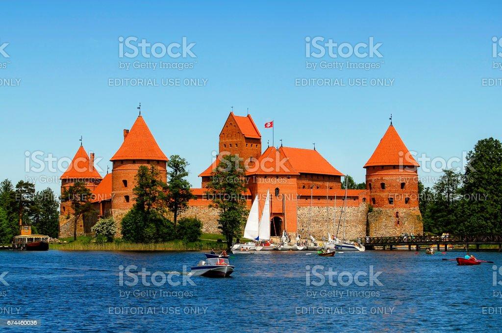 Trakai Castle - a popular tourist destination in Lithuania stock photo
