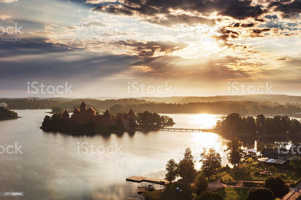 Trakai castle in Litaunia stock photo