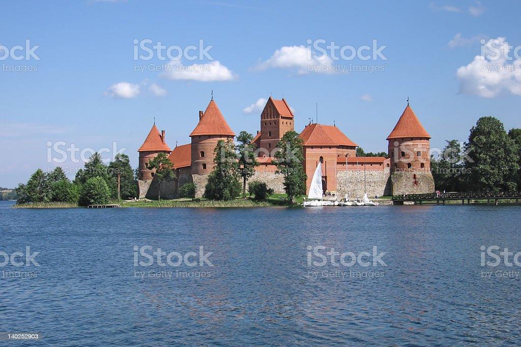 Trakai castle stock photo