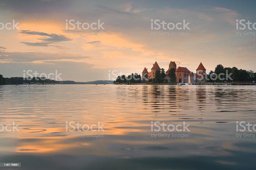 Trakai Sunset stock photo
