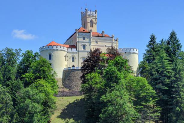 Trakoscan Castle in northern Croatia stock photo