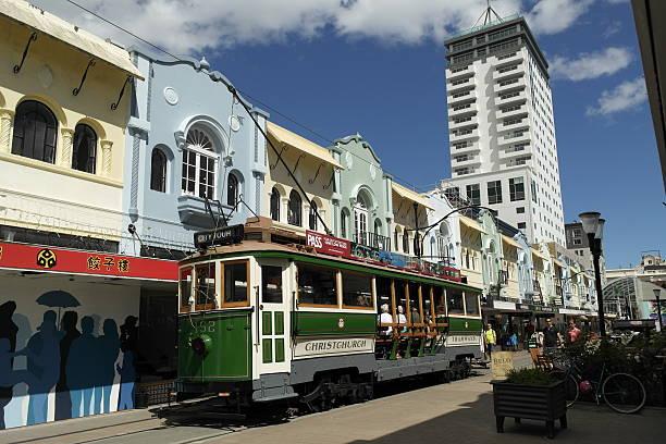 Tram Christchurch - New Zealand stock photo
