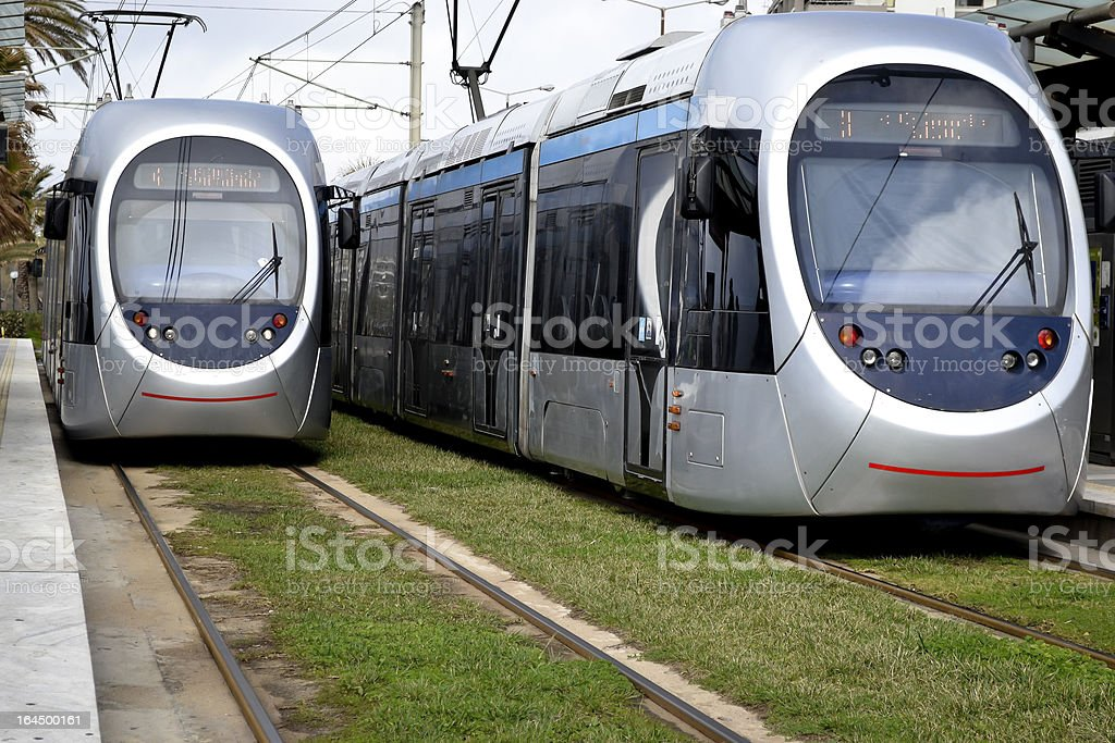 Tram in Athens, Greece royalty-free stock photo