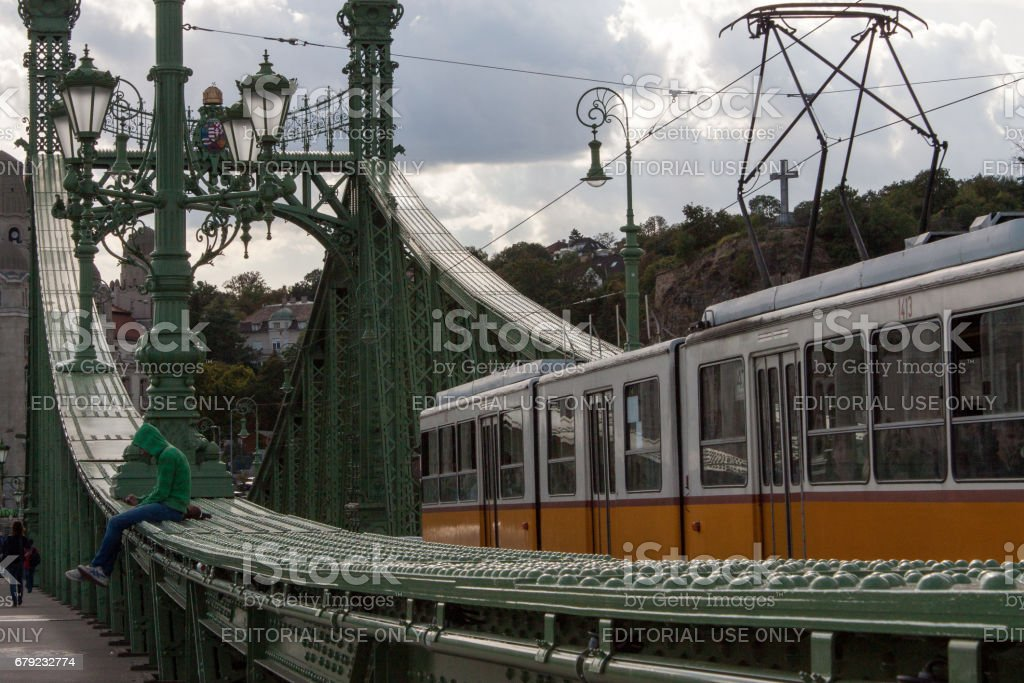 Tram in Budapest photo libre de droits