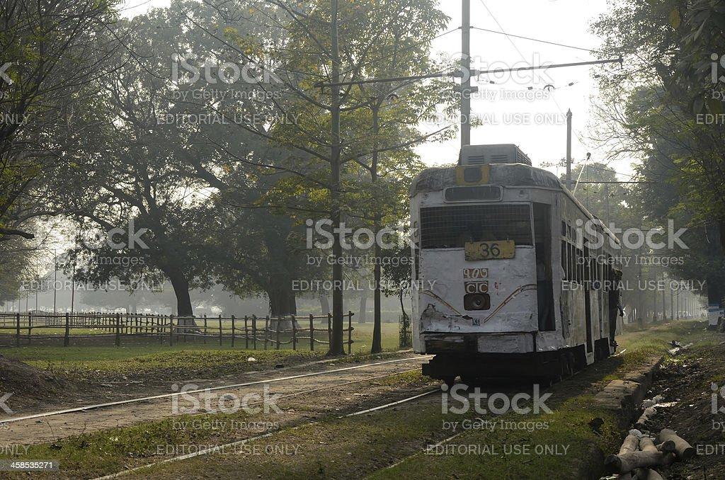 Tram in Calcutta royalty-free stock photo