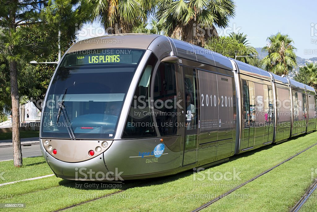 Tram in city of Nice royalty-free stock photo