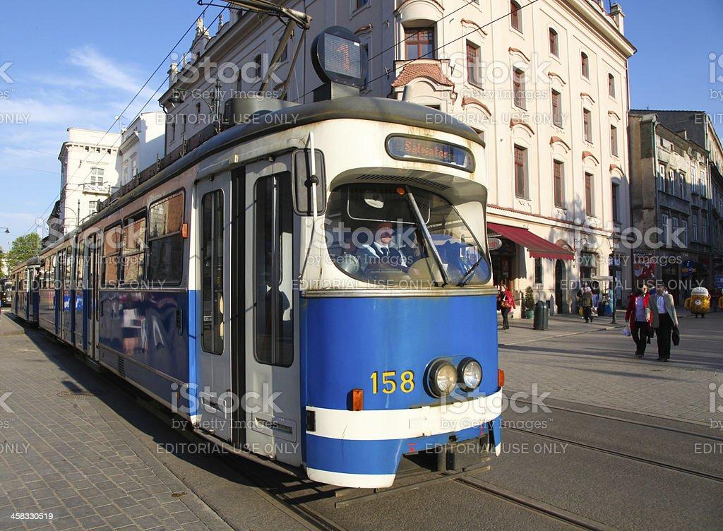 Tram in Krakow royalty-free stock photo