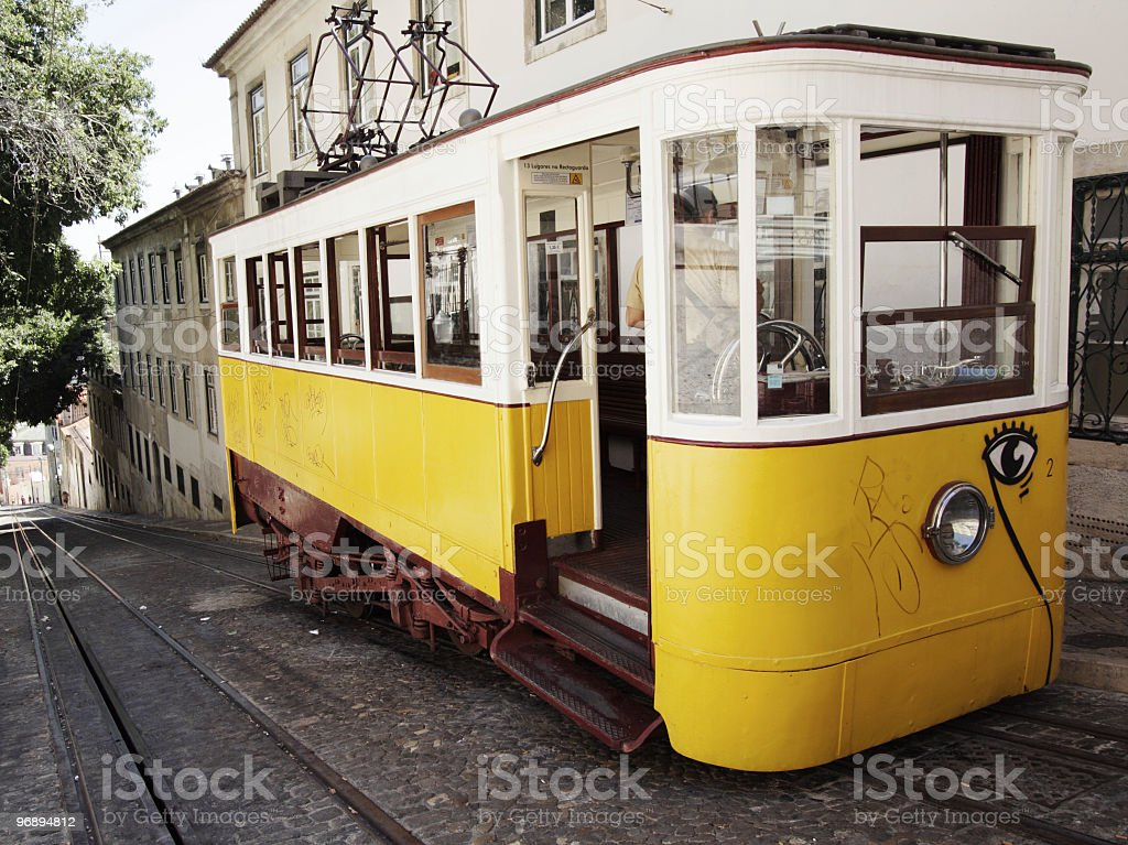 Tram in Lisboa/Portugal royalty-free stock photo