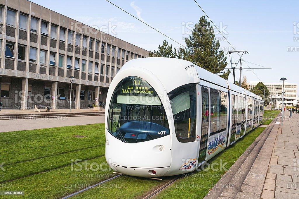 Tram in Lyon, France stock photo