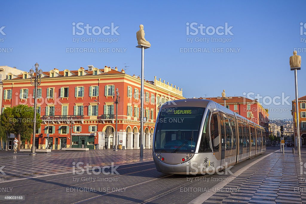Tram in Nice, France royalty-free stock photo