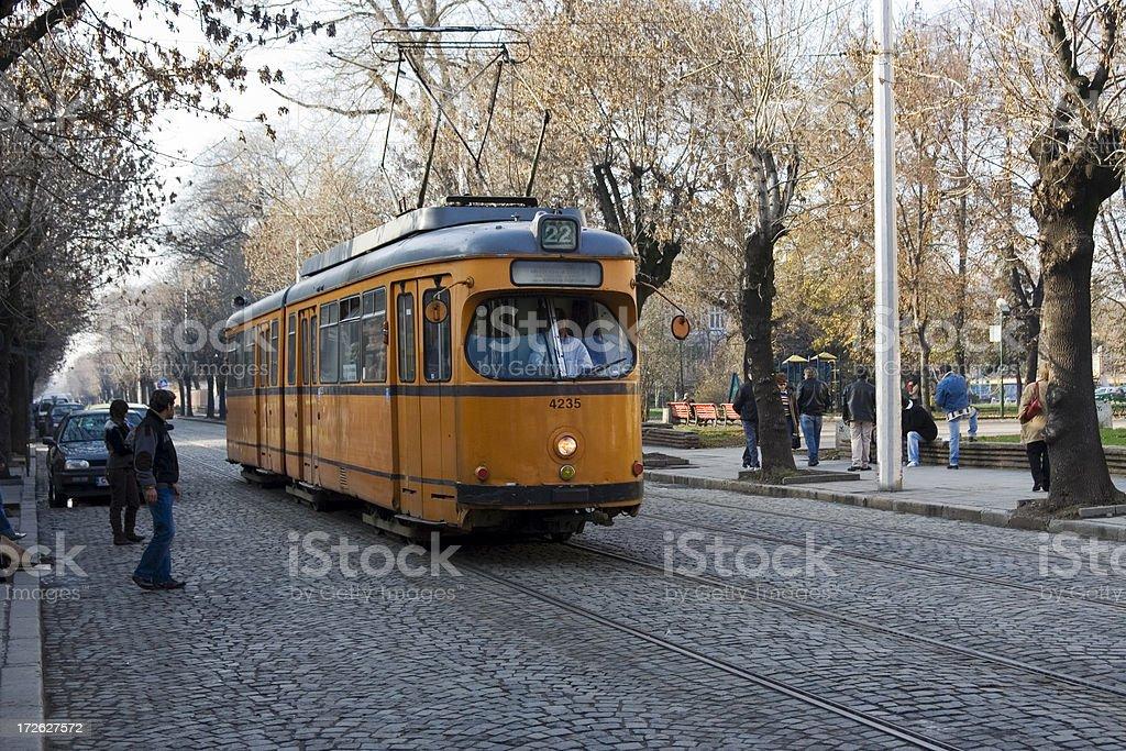 Tram in Sofia royalty-free stock photo