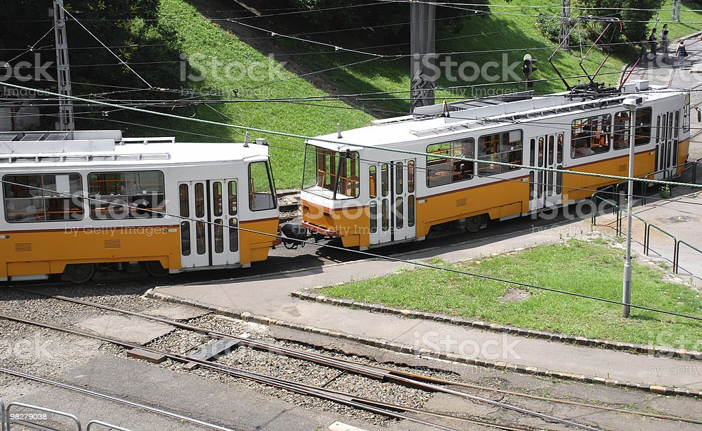 tram in the city royalty-free stock photo