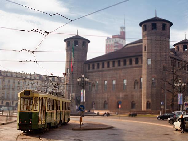 Tram in Turin, Italy stock photo