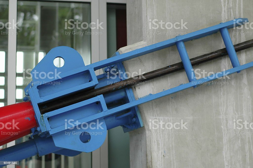 Tram Line Anchor royalty-free stock photo