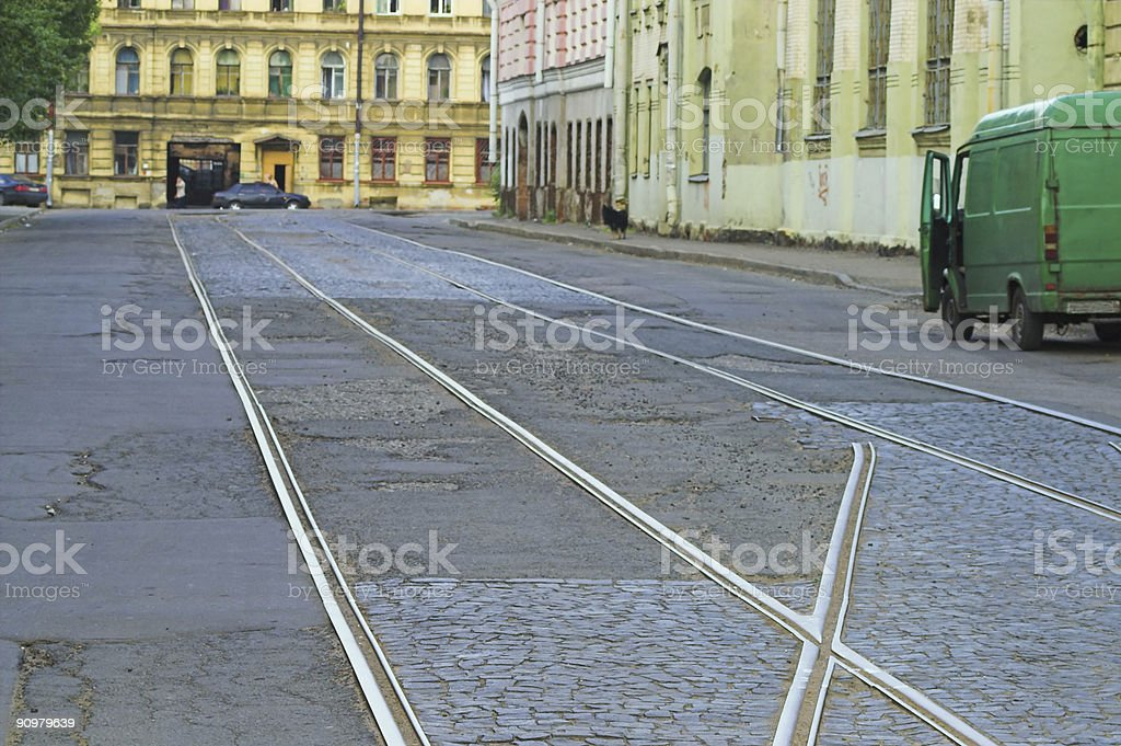 Tram lines royalty-free stock photo