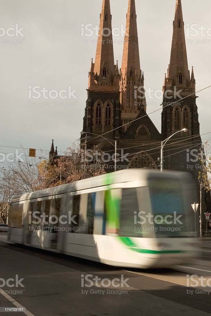 Tram royalty-free stock photo