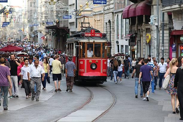 tram - istiklal avenue bildbanksfoton och bilder