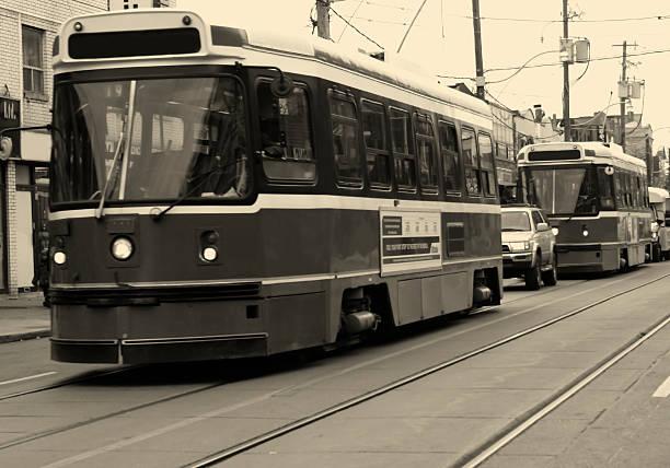 tram - toronto streetcar stock photos and pictures