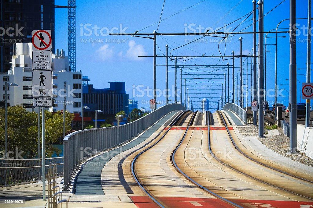 Tram Rail stock photo