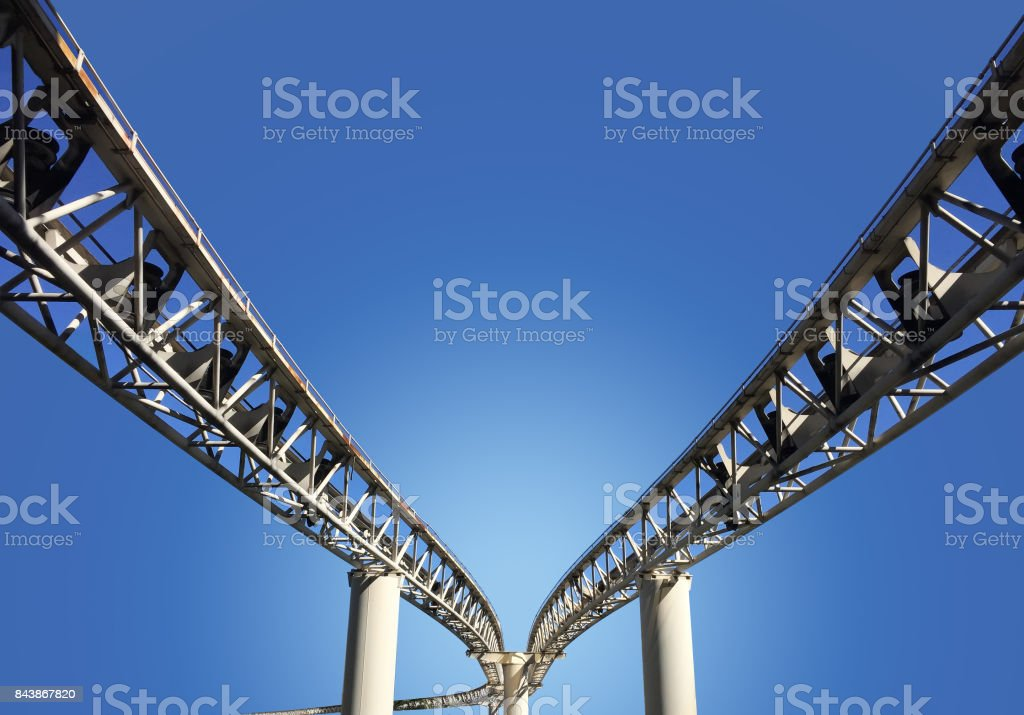Tram Rails stock photo