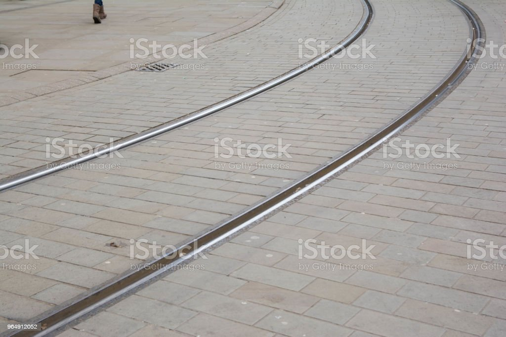 Tram railways. royalty-free stock photo