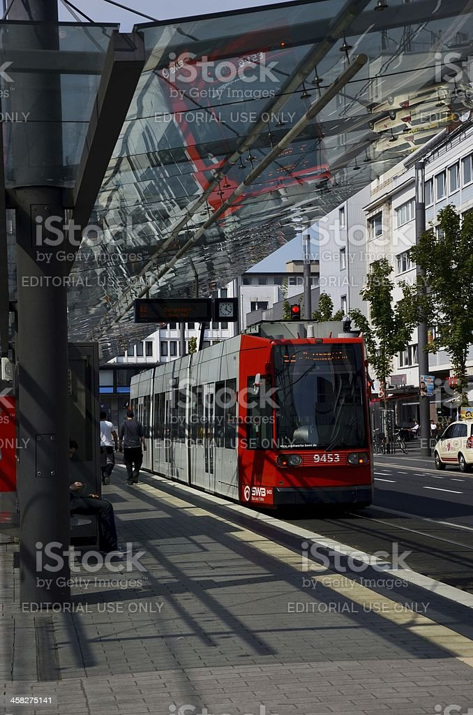 tram station royalty-free stock photo