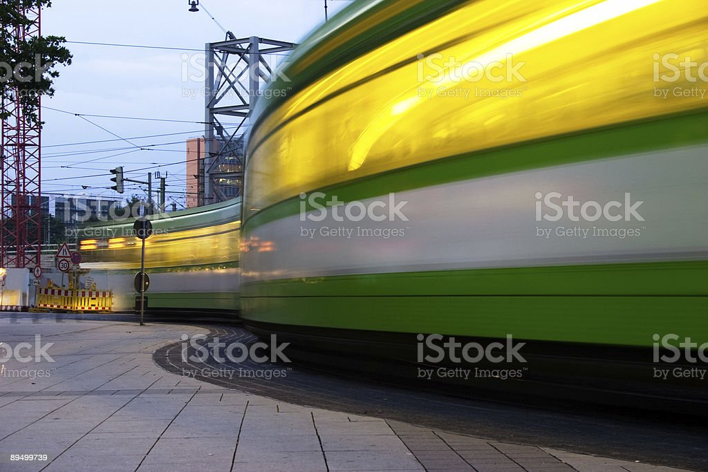 Tram traffic lights royaltyfri bildbanksbilder