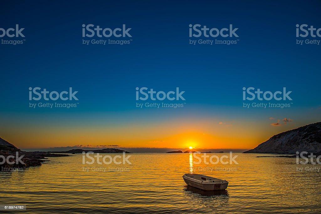 Tramonto autunnali di Sardegna stock photo