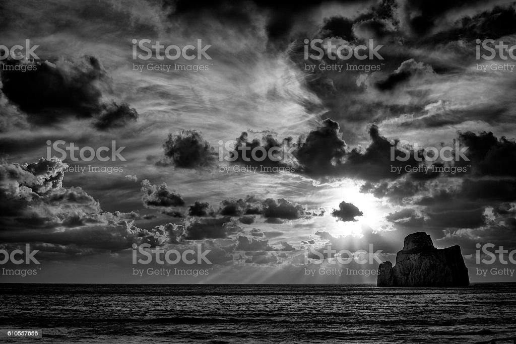 Tramonto di Sardegna stock photo