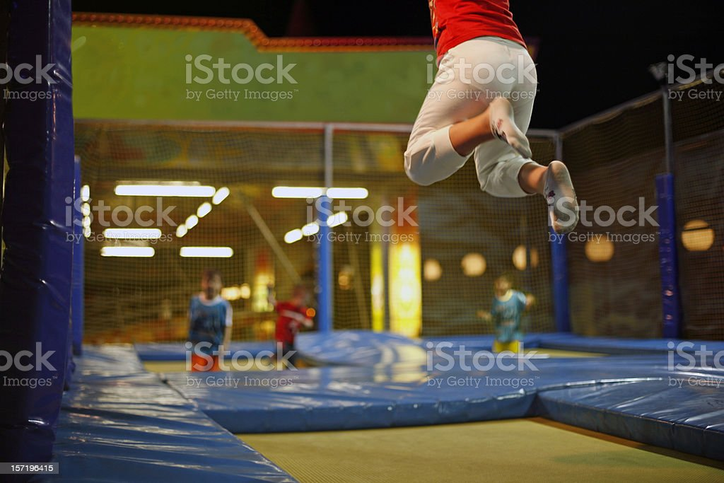 Trampoline fun stock photo