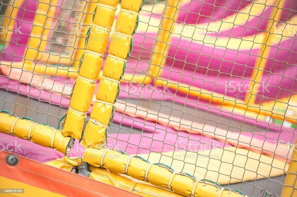 trampoline playground stock photo