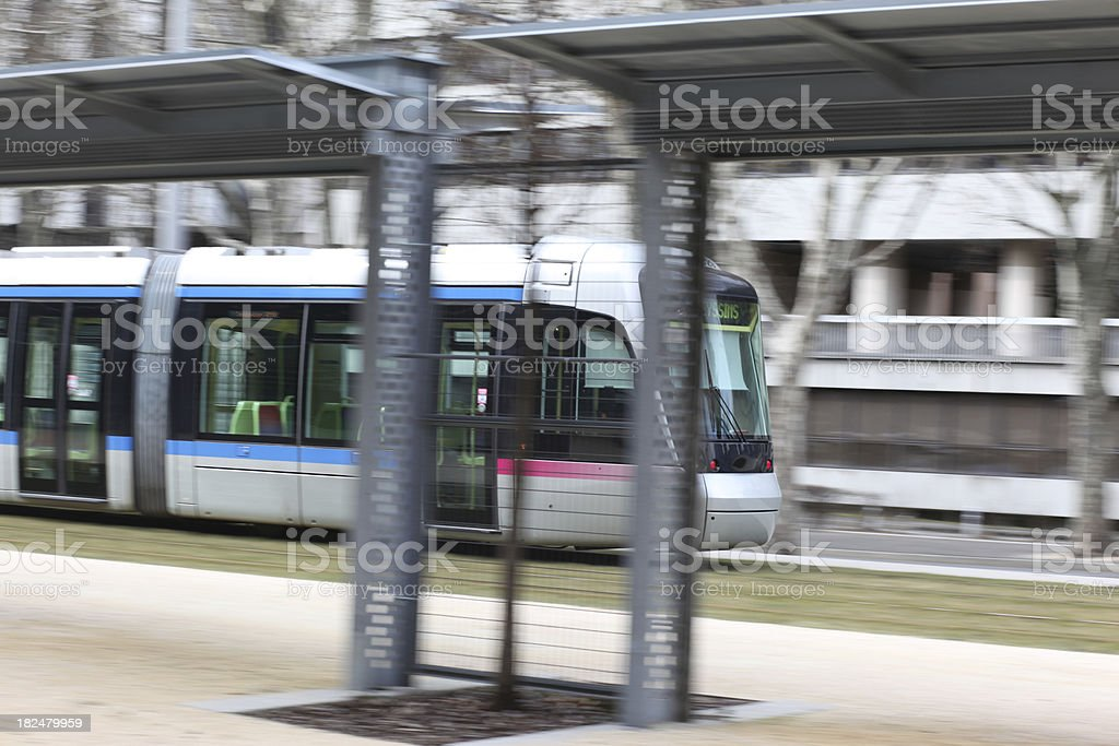 Tramway in Grenoble, France stock photo