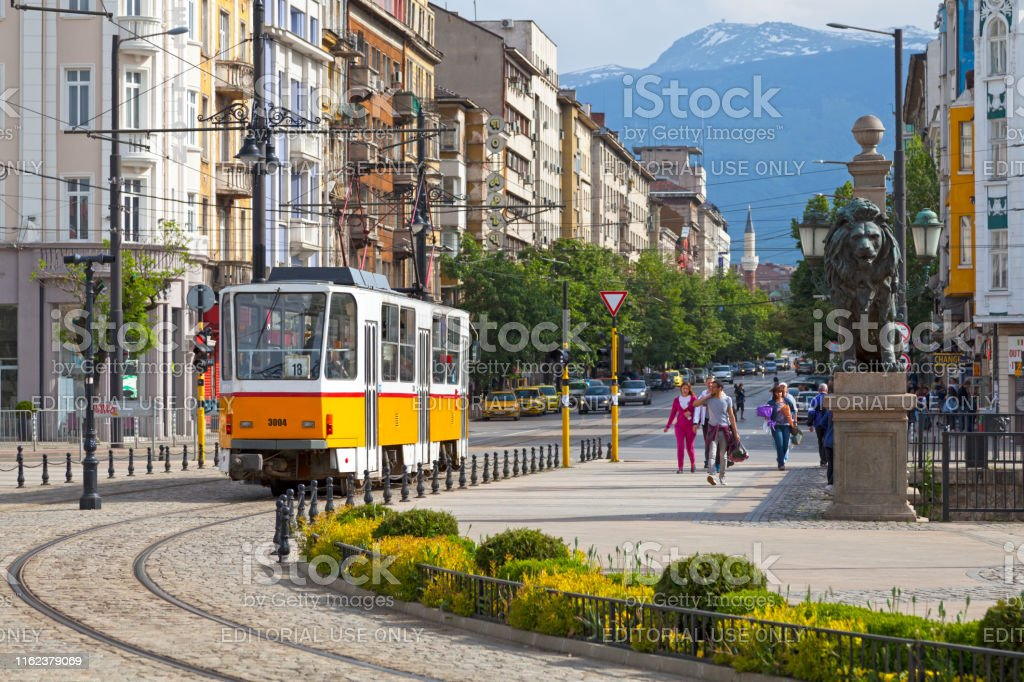 Tramway in Sofia - Royalty-free Architecture Stock Photo