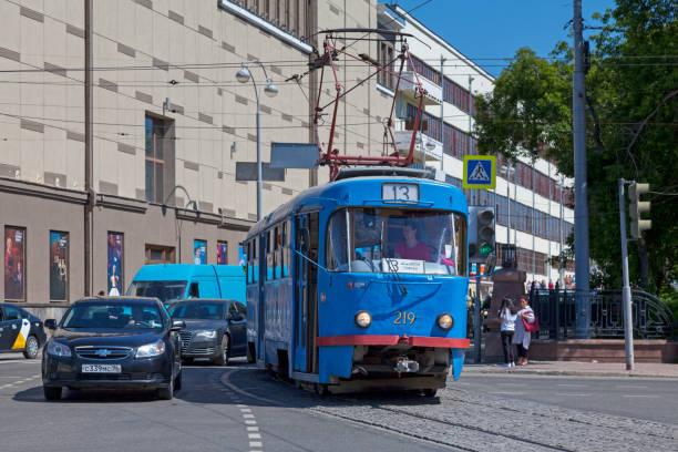 Tramway in Yekaterinburg stock photo