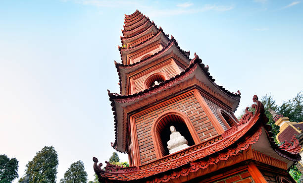 Tran Quoc Pagoda, Hanoi Tran Quoc Pagoda is the oldest Buddhist temple in Hanoi, originally constructed in the 6th century. Northern Vietnam hanoi stock pictures, royalty-free photos & images