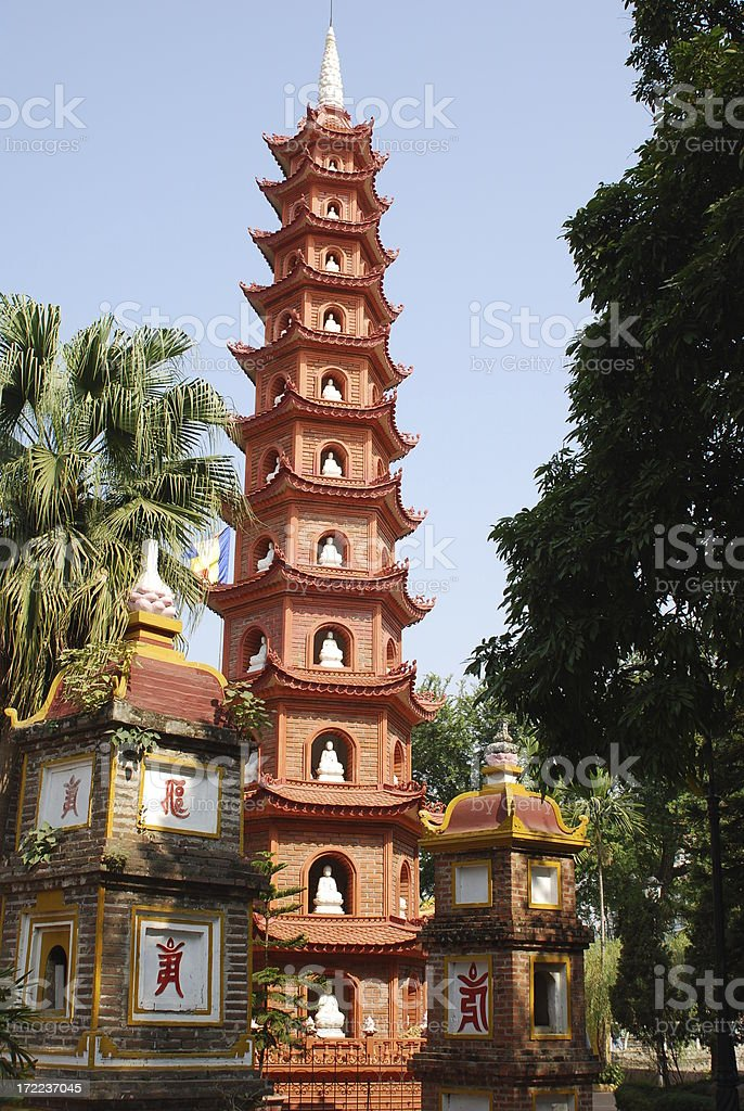 Tran Quoc Pagoda royalty-free stock photo