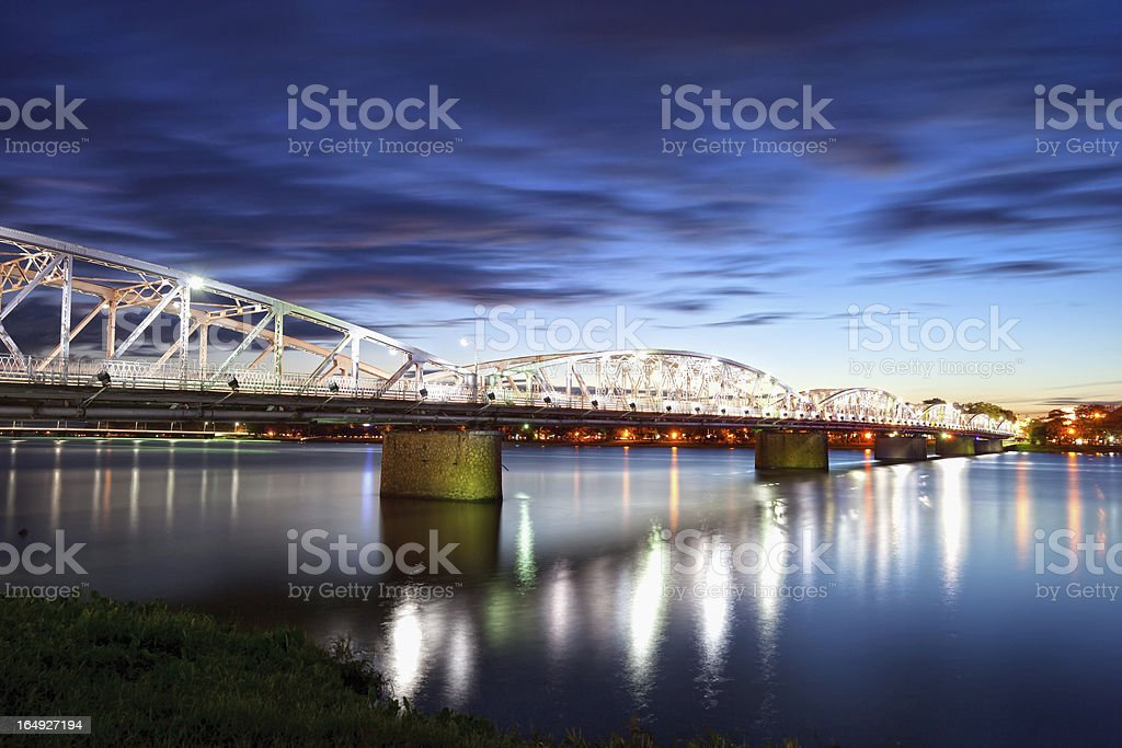 Trang Tien Bridge in Hue, Vietnam stock photo