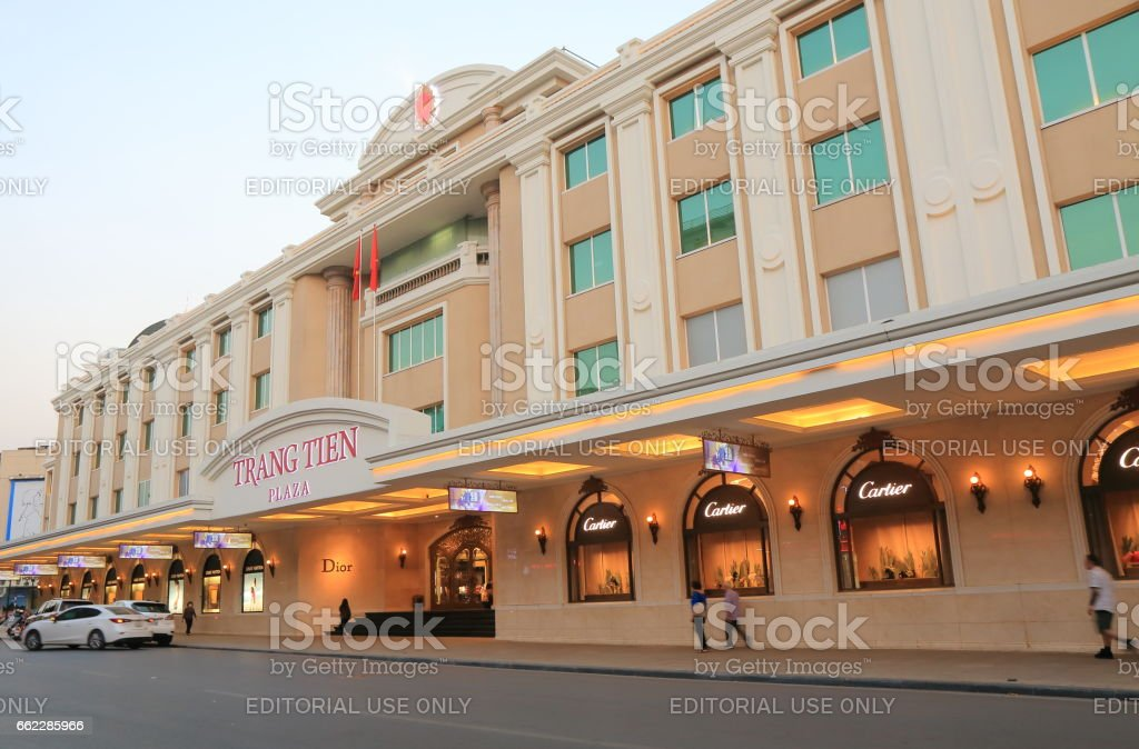 Trang Tien Plaza shopping mall Hanoi Vietnam royalty-free stock photo
