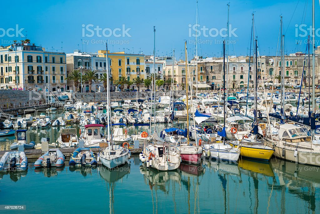 Trani, scenic town at Adriatic sea, Puglia, Italy stock photo