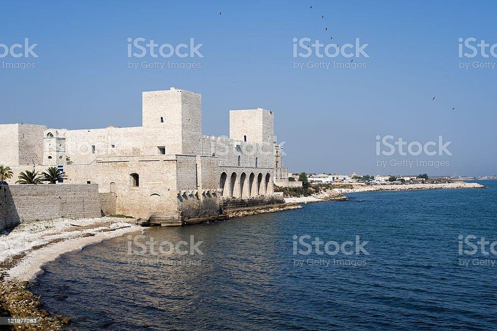 Trani (Puglia, Italy) - The coast and fortress royalty-free stock photo