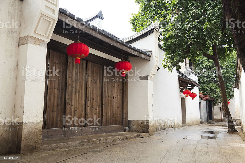 Tranqui Chinese traditional alley. royalty-free stock photo