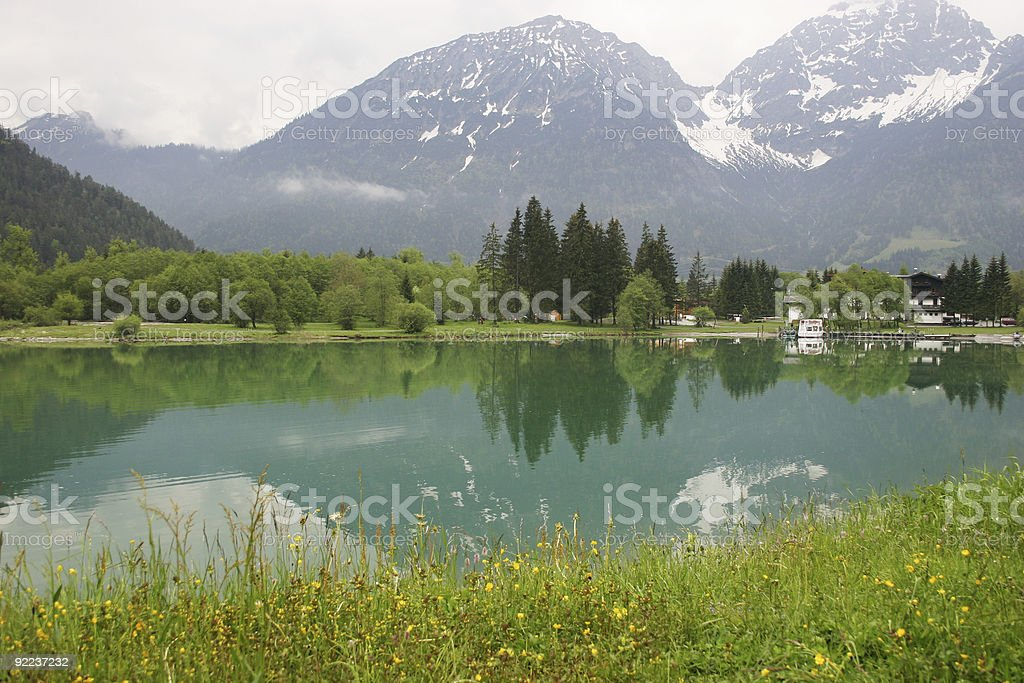 Tranquil Alpine Lake royalty-free stock photo