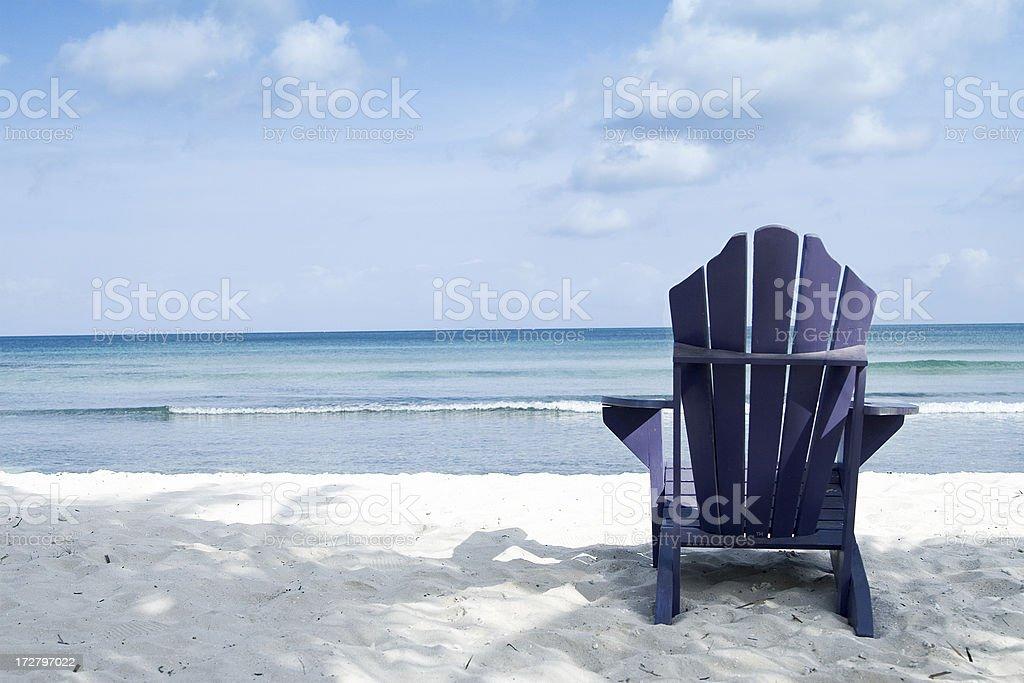 Tranquil beach setting stock photo