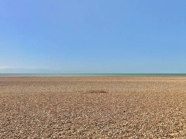 A tranquil Brighton beach. stock photo