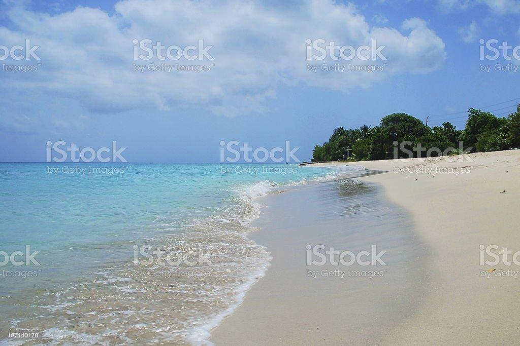 Tranquil Caribbean Island stock photo