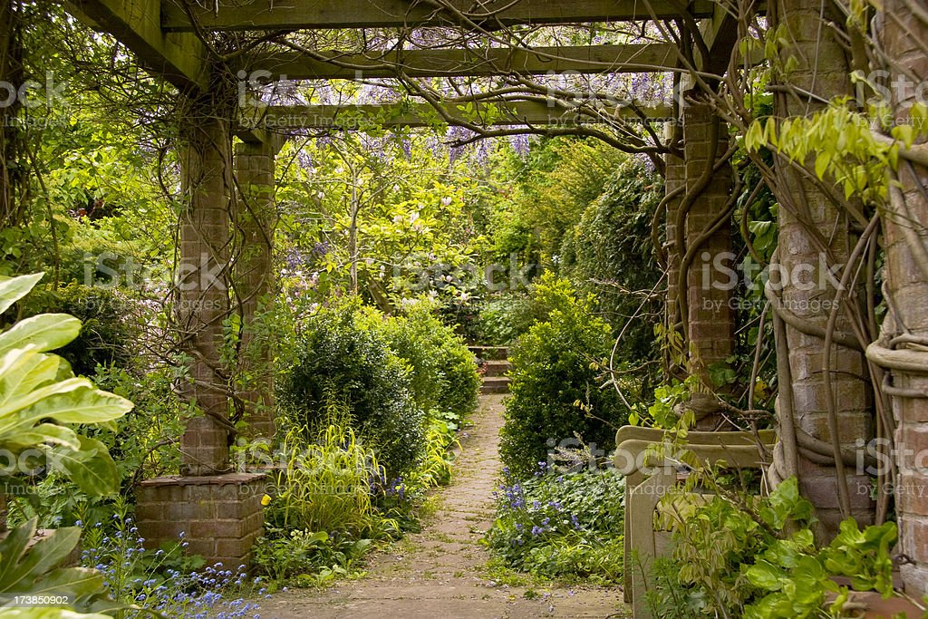 Tranquil Garden stock photo