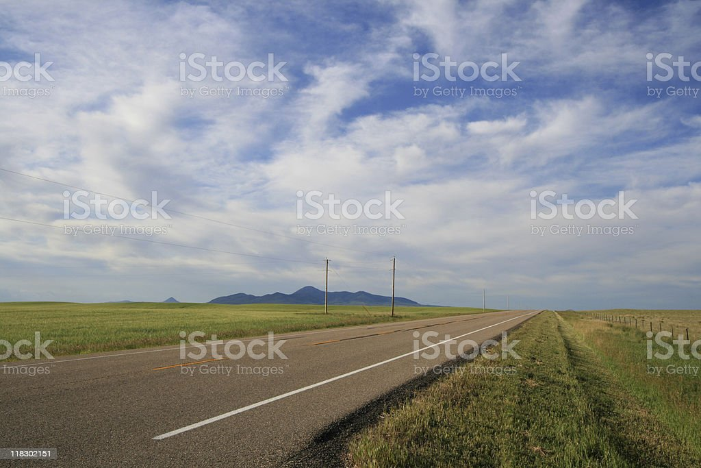 Tranquil Highway stock photo