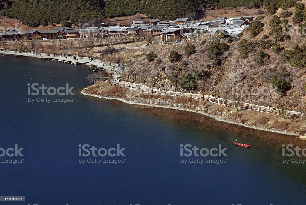 Tranquil lake view royalty-free stock photo